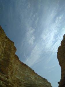 Looking at the sky at En Avdat