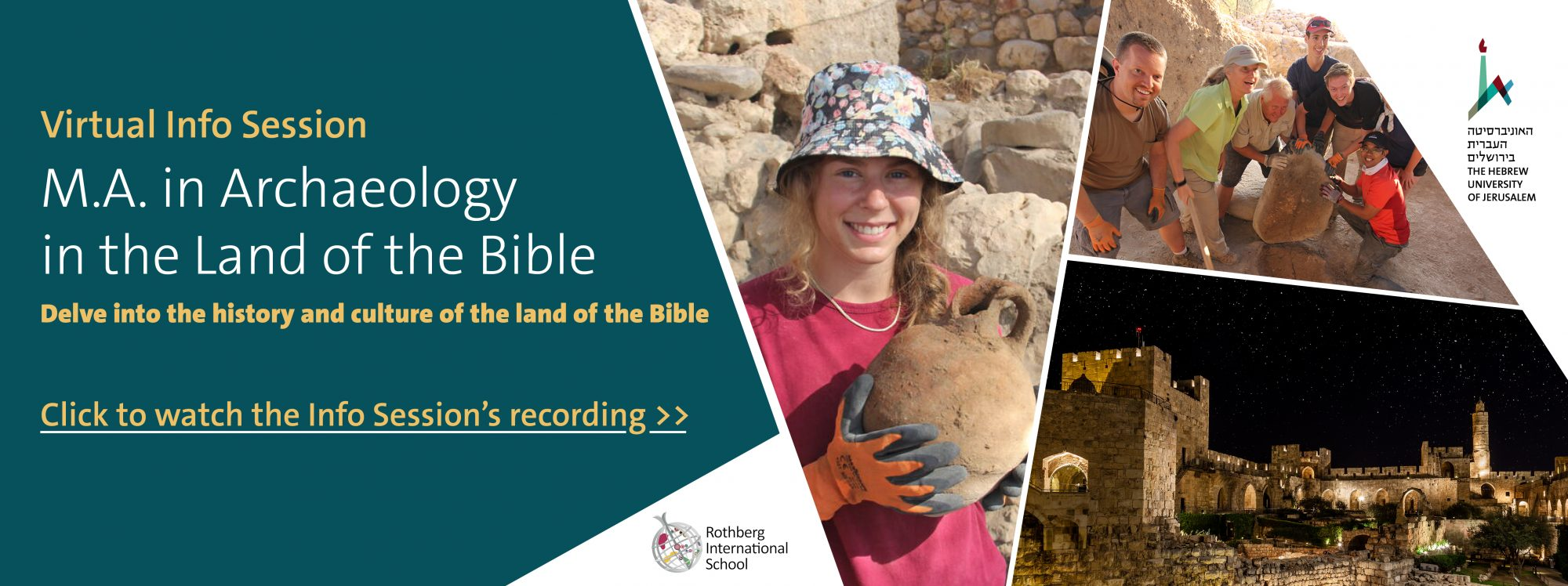 M.A. in Archaeology in the Land of the Bible